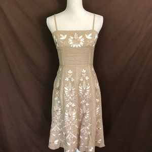 Antonio Melani Beige Embroidered Beaded Dress 4